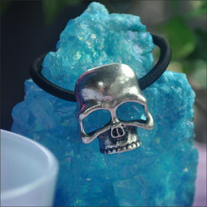 Accessories - Metal Skull Hair Band - silver